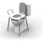RG515 - SPACE SAVER TOILET SEAT RAISER - OVER TOILET